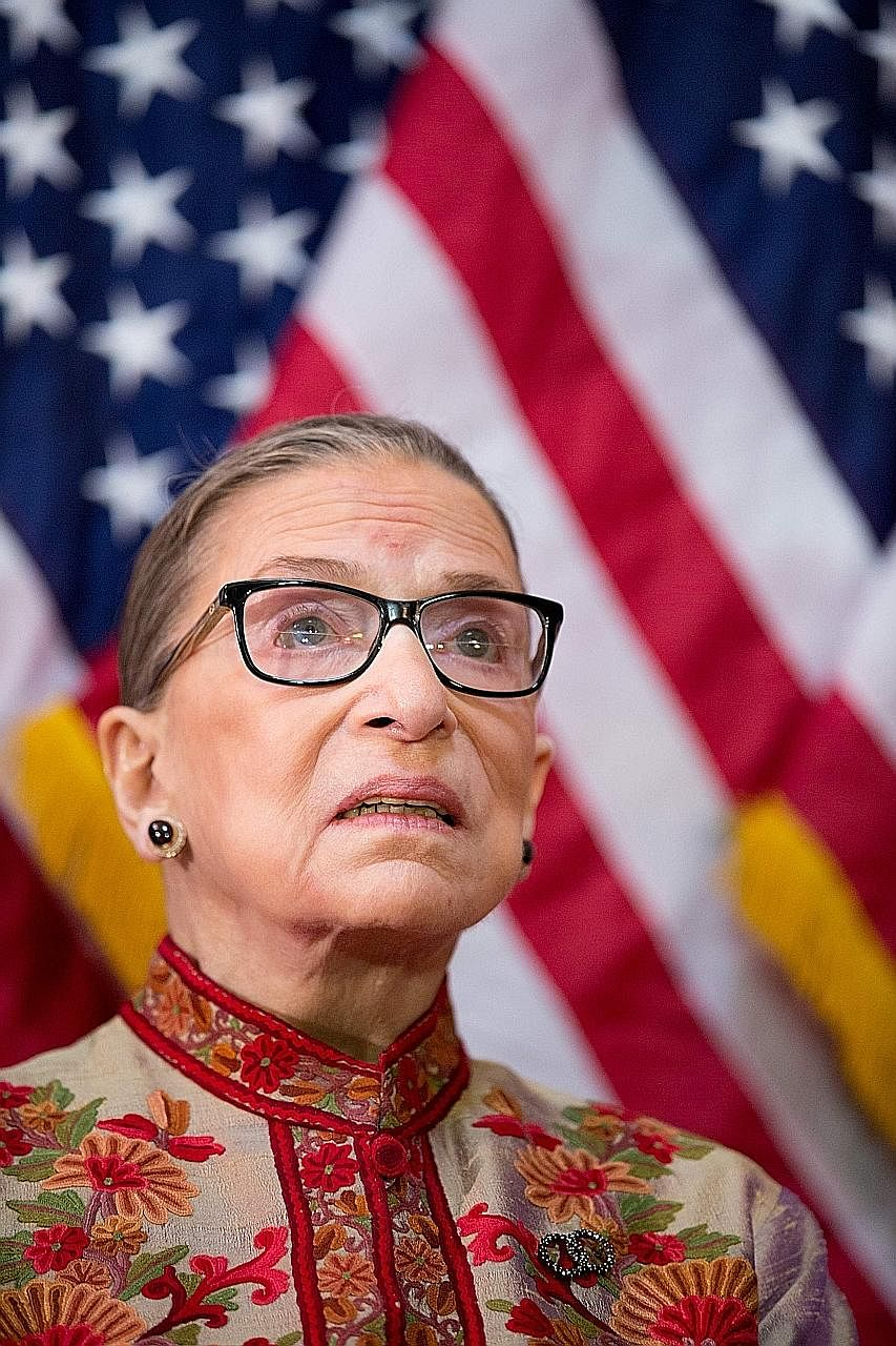 US Supreme Court Justice Ruth Bader Ginsburg, 83, says the office she has held for more than 23 years is the best and most consuming job a lawyer anywhere could have.