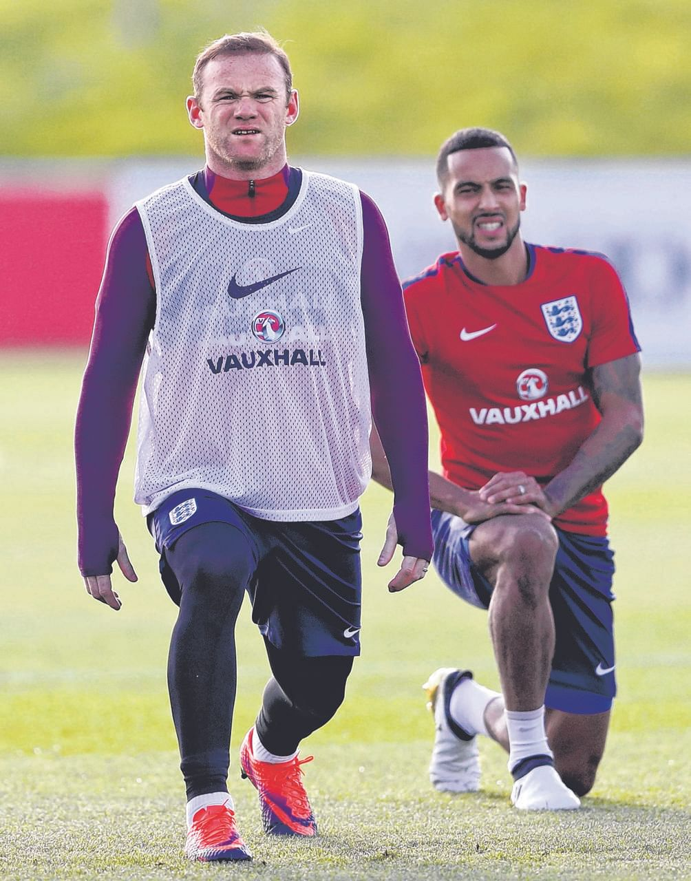 While Wayne Rooney (left) struggles to adapt to a different role on the pitch for England and Manchester United, Theo Walcott is trying to fend off the onset of numerous injuries that have stalled his career.