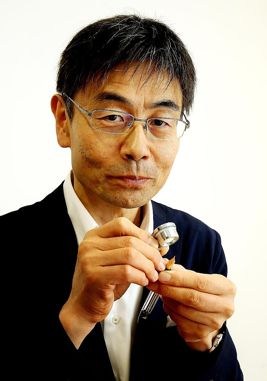 Mr Atsushi Takizawa fixes expensive fountain pens which can cost more than $20,000.