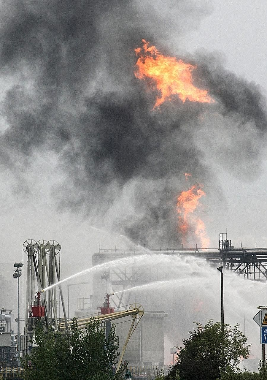 At least one person was killed, six hurt and another six missing after blasts at two German chemical plants owned by BASF, forcing the world's biggest chemicals company to shut down some production facilities. BASF said an explosion and fire occurred