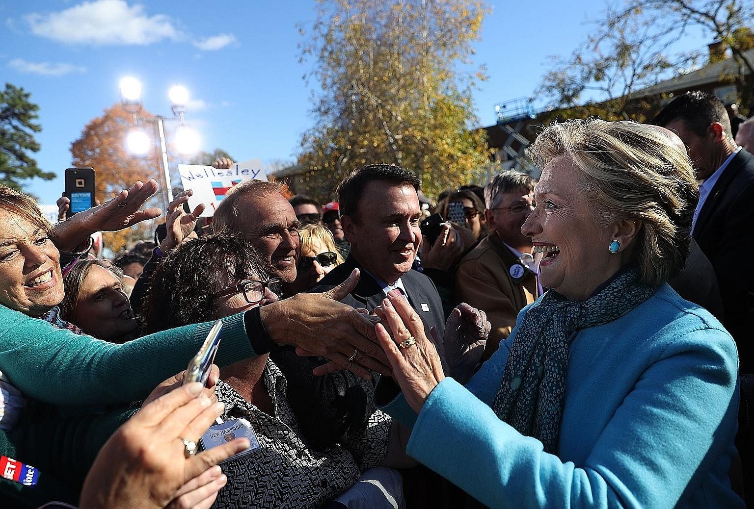 Mrs Clinton on the campaign trail. An experienced political negotiator and former chief diplomat, she understands that hypocrisy and two-facedness, when prudently harnessed to advance negotiations or avert conflicts, are a public good and a political