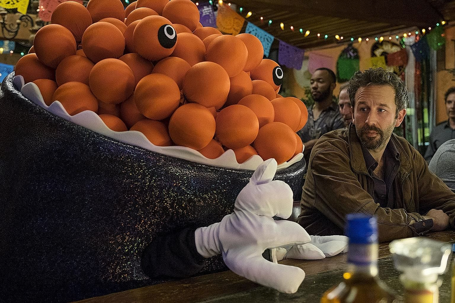 Chris O'Dowd stars in Mascots, which depicts the world of competitive sports mascots.