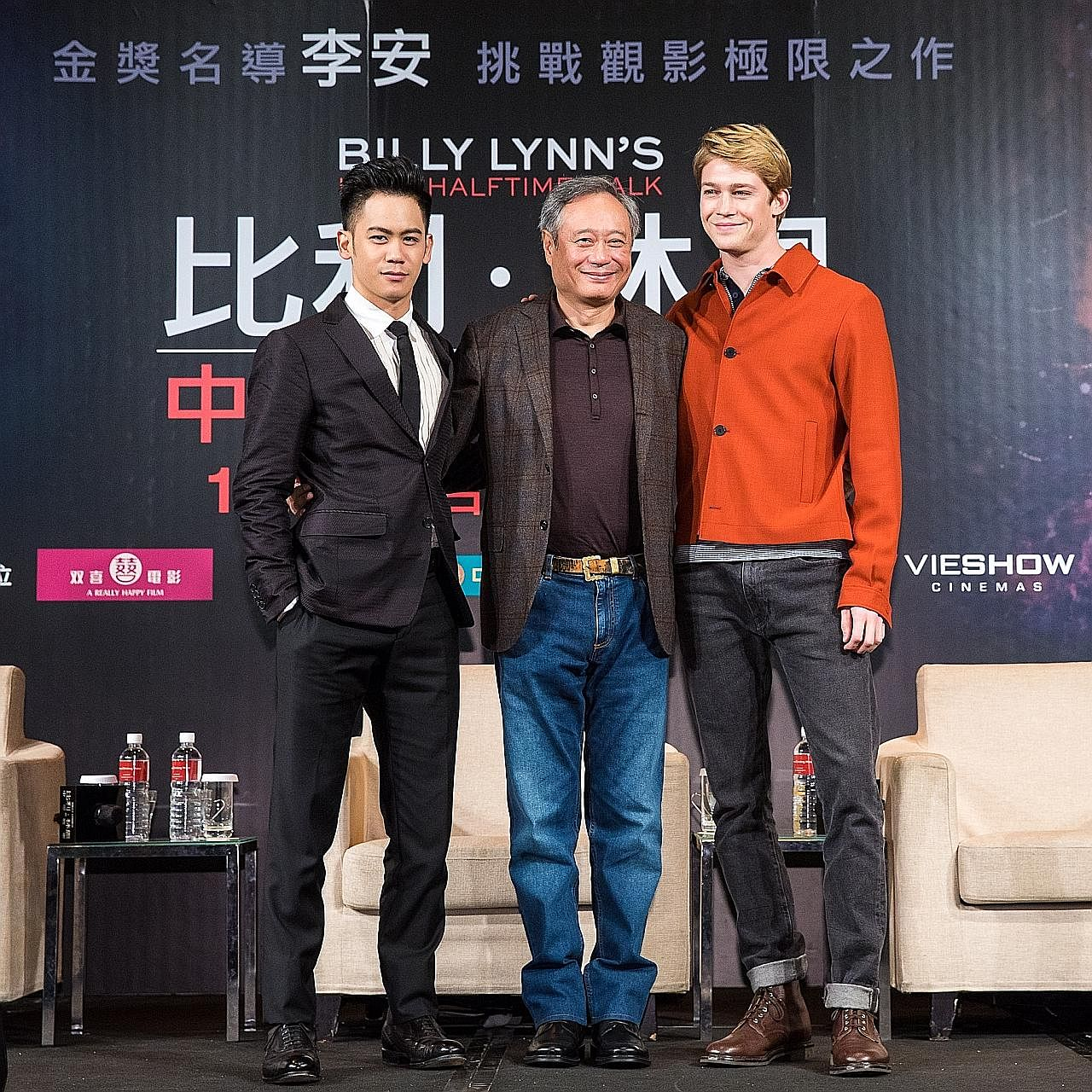 British actor Joe Alwyn (right), who makes his big-screen debut in Billy Lynn's Long Halftime Walk, is coming to terms with being an actor and also a movie star.