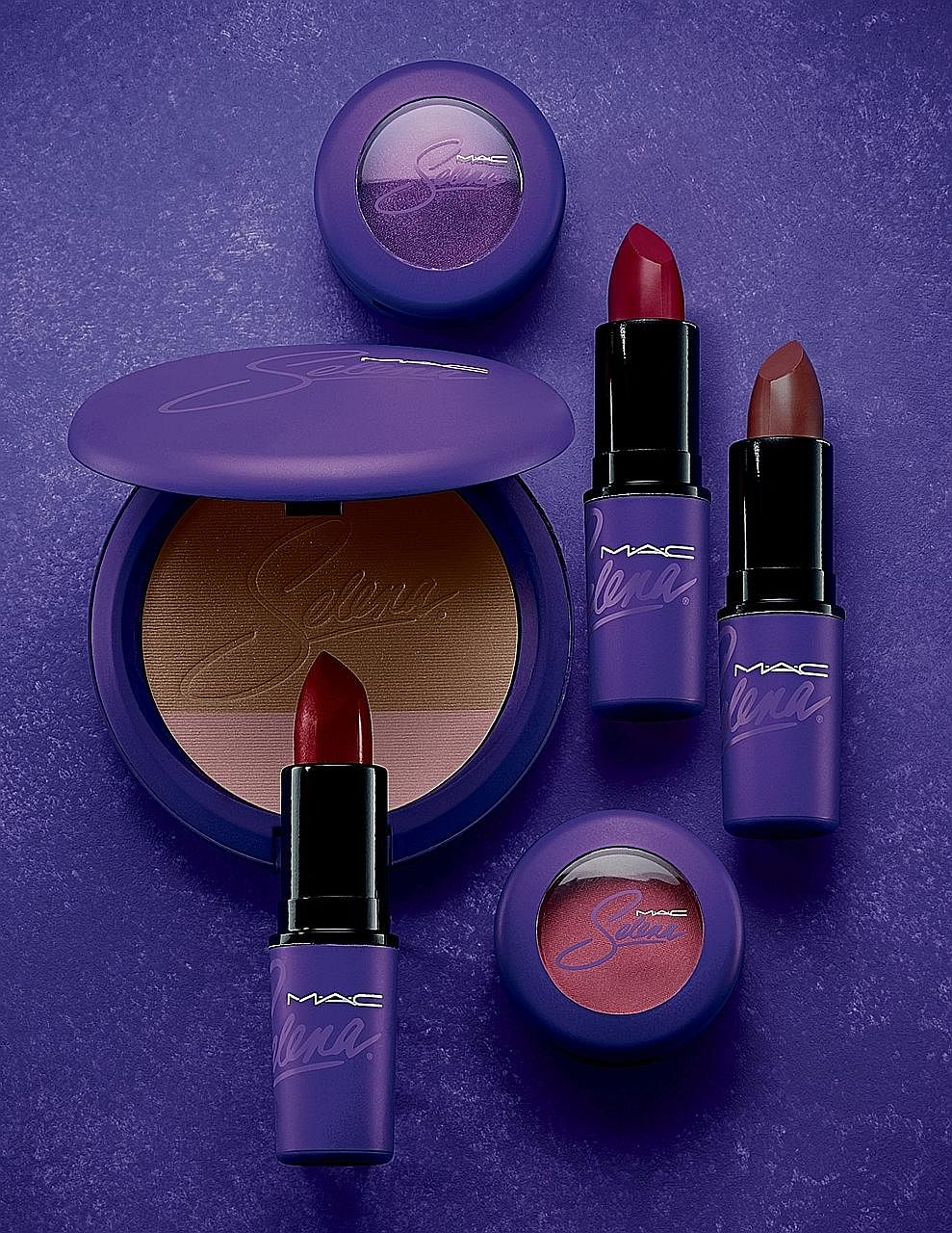 Items from the M.A.C Selena make-up collection, inspired by the late singer Selena Quintanilla Perez.