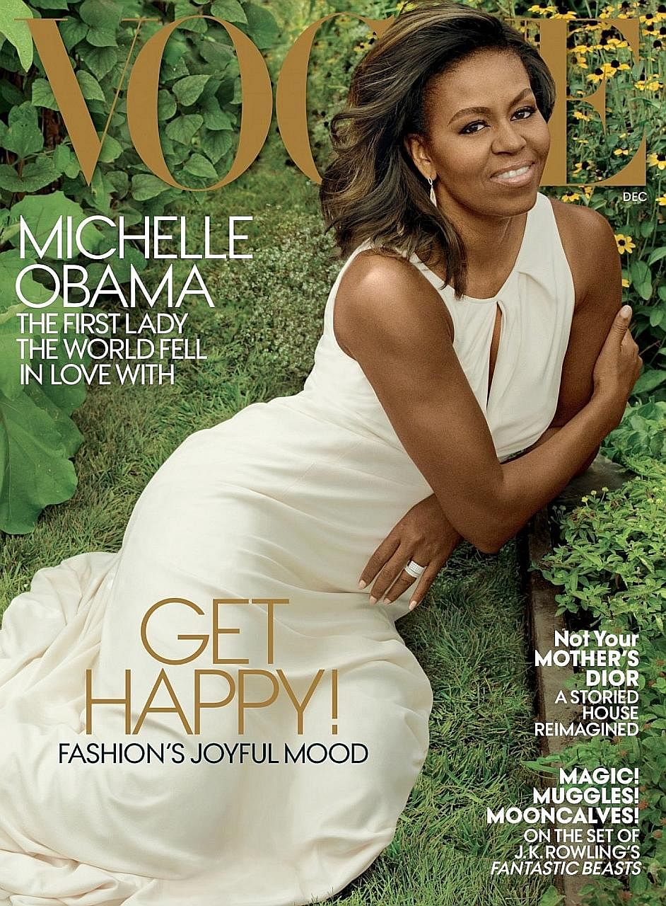 Michelle Obama shows a different side to herself in next month's issue of Vogue.