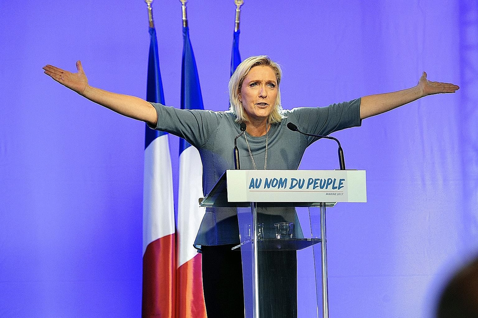 In contrast, Ms Le Pen is a twice-divorced mother of three. As a child, she survived a bomb attack and later, her mother's abandonment. She went on to transform the National Front, a party her father founded, from a fringe movement, which acted as a