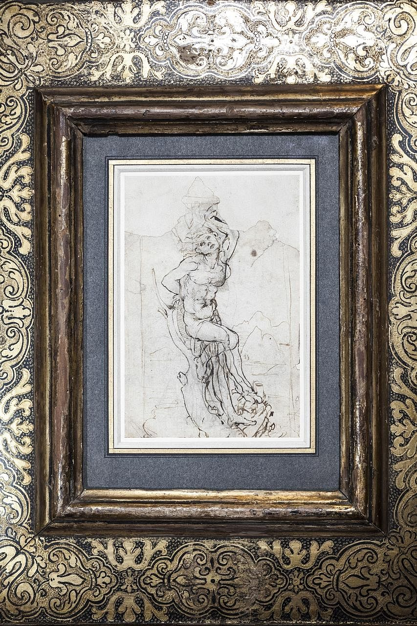 The drawing of the martyred Saint Sebastian by Leonardo da Vinci is valued at $22.6 million.