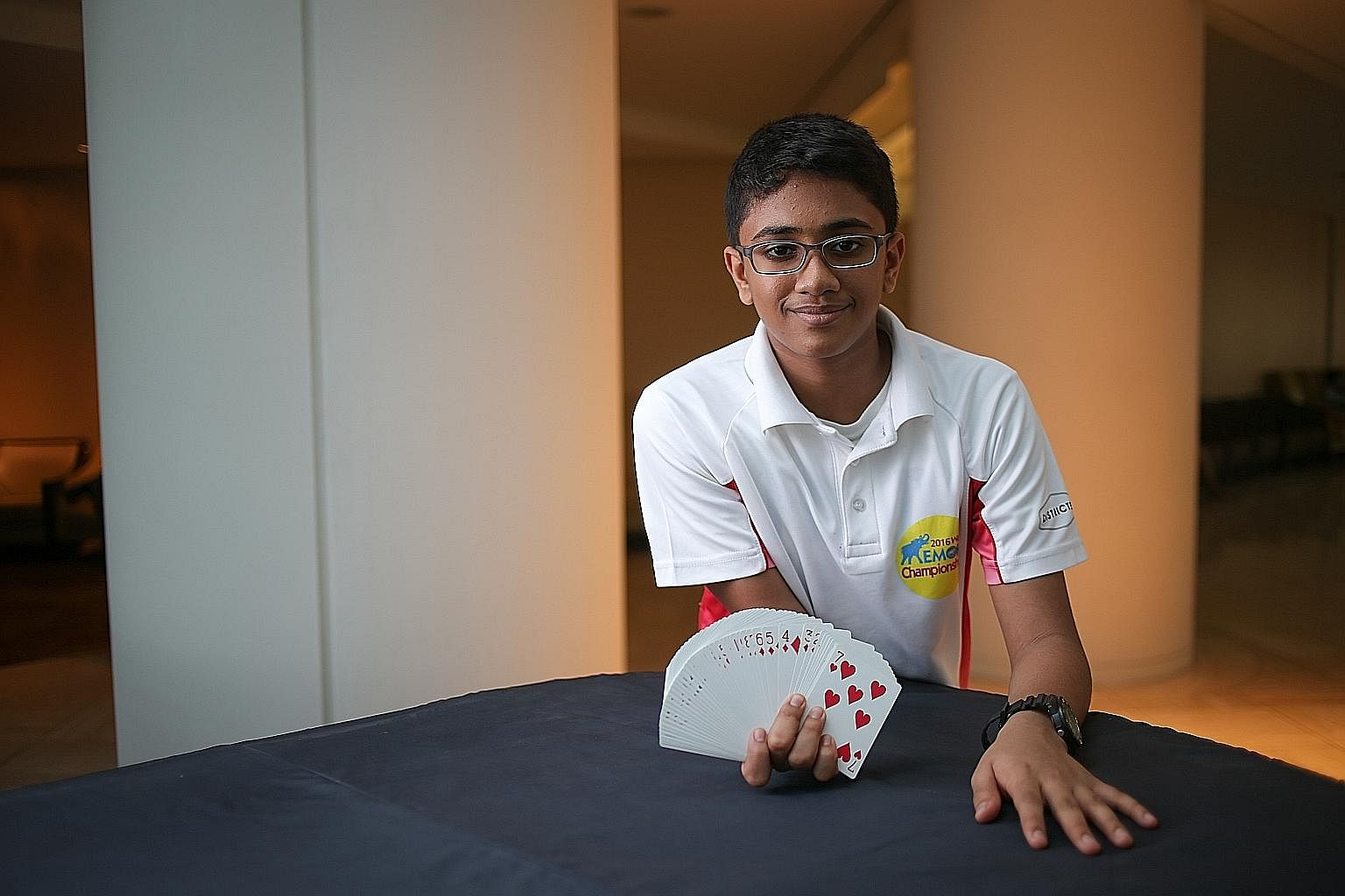 Grace Ng, 18, and Dhruv Manoj, 10, are part of the 13-member team representing Singapore in the World Memory Championships.