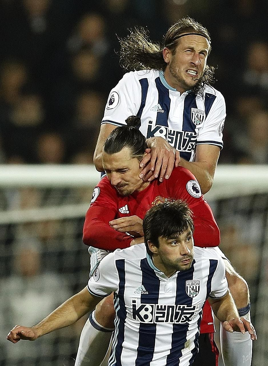 Zlatan Ibrahimovic is near the top of the pile in terms of Premier League goals this season. Like at all his previous clubs, he has hit the ground running for Manchester United and his imposing presence against West Bromwich Albion in their 2-0 win a