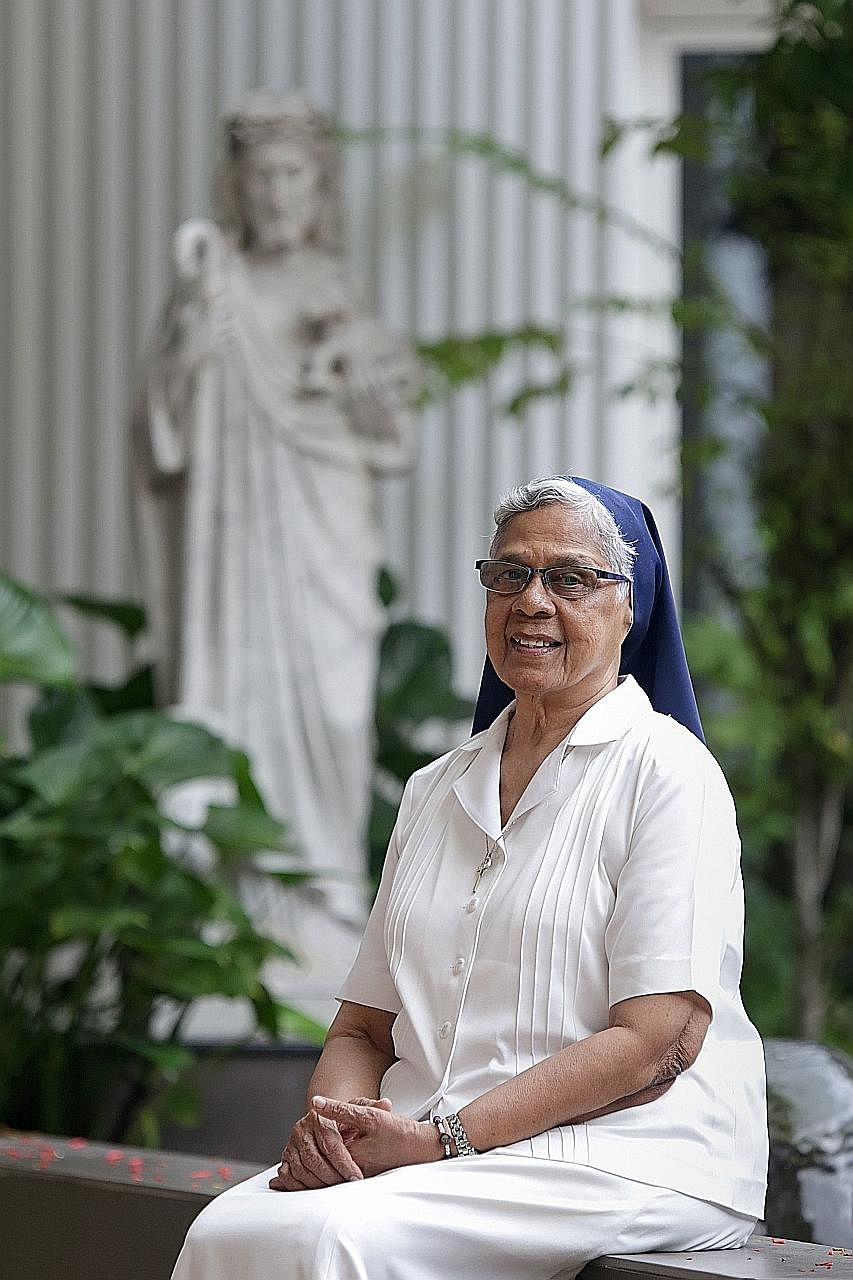 """Sister Gerard is adamant that she is in no way a saint, and has her dark moments. """"My ego can be as big as a satellite. But I try to use the dark moments to become better."""""""