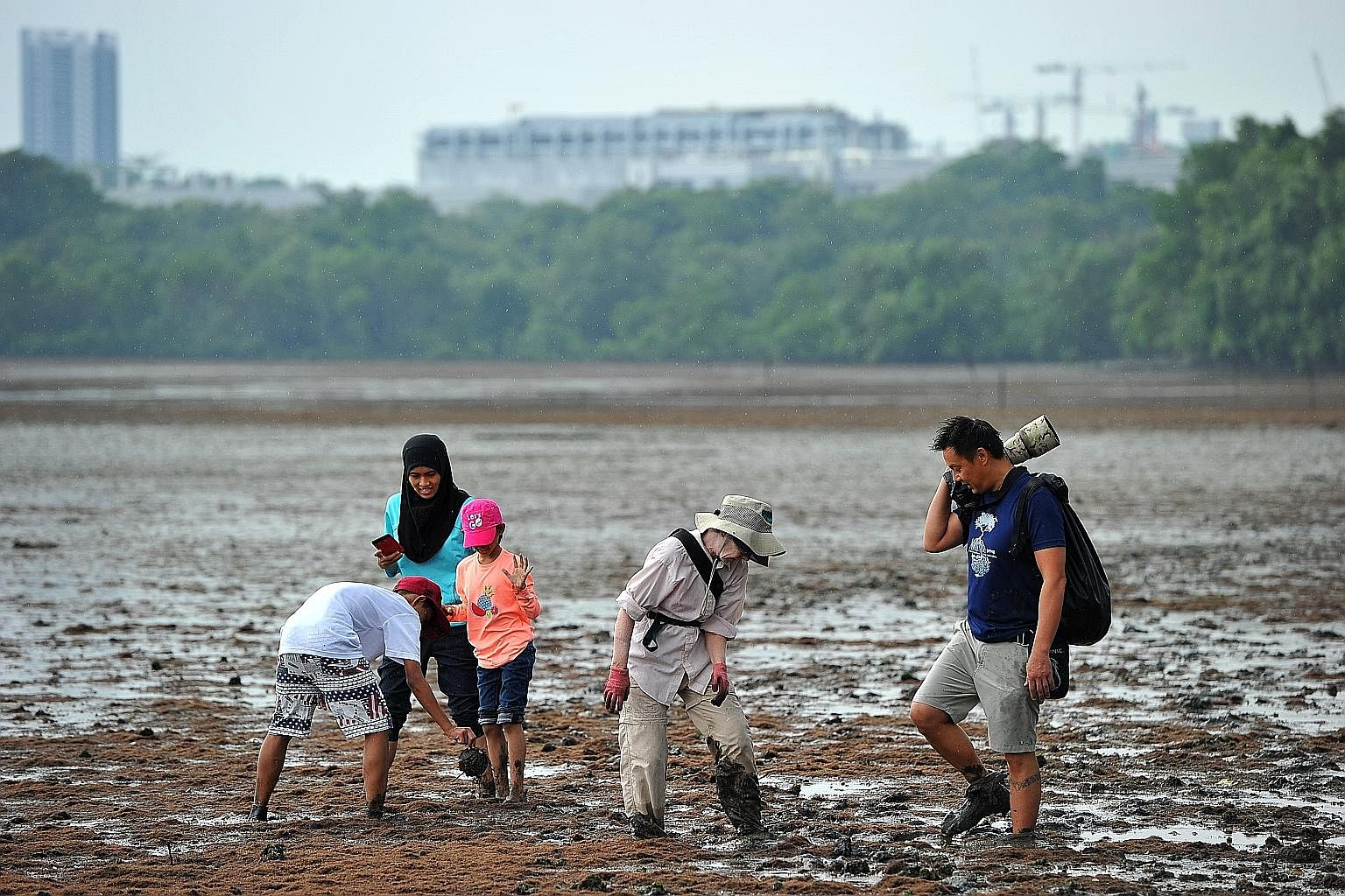 Part of Singapore's climate action plan includes improving coastal protection.