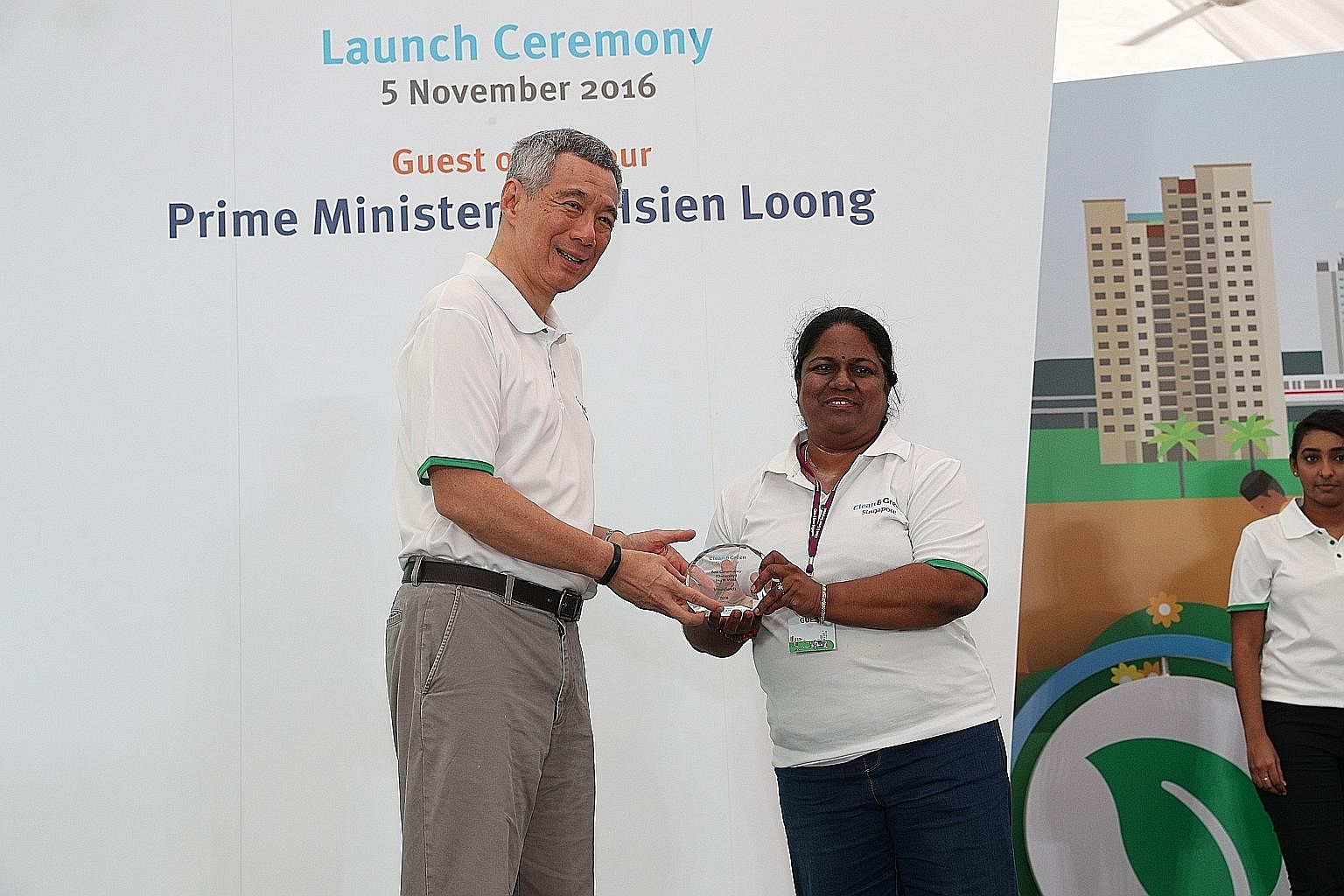 Mr Lee paid tribute to those who worked quietly behind the scenes, like volunteer Lalithama Nair (above, left). He also lauded those who pushed the boundaries with their fighting spirit, including entrepreneur Muhd Shamir (above, right) and swimmers