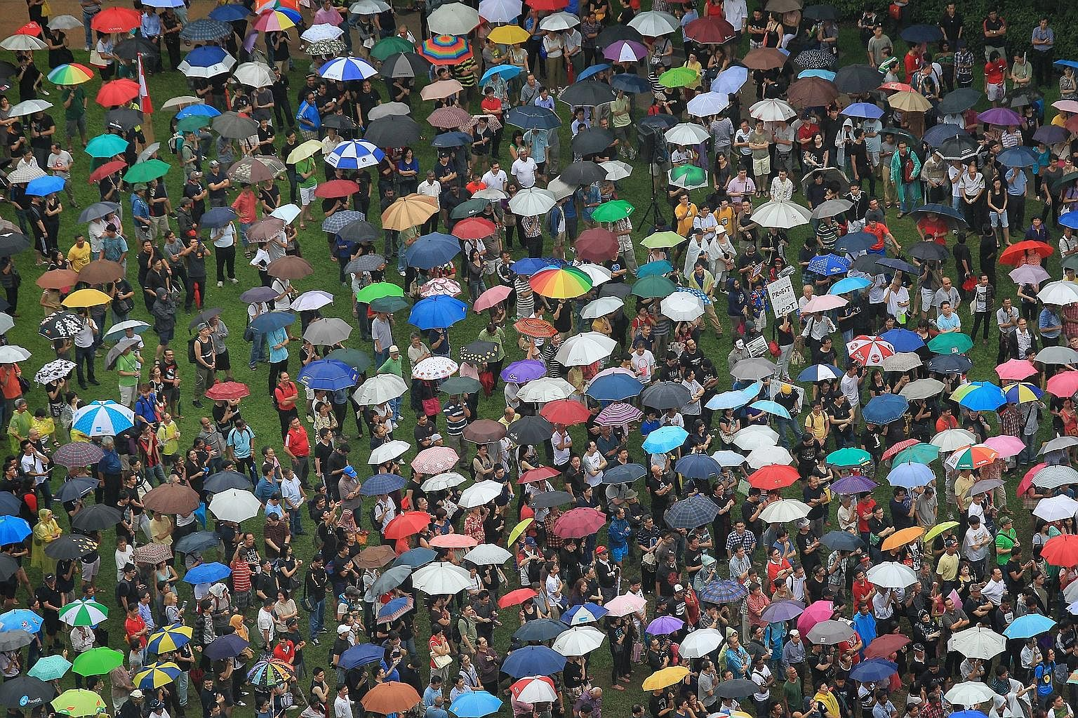 The crowd at Speakers' Corner in Hong Lim Park on Feb 16, 2013, at a protest against the Population White Paper. None of the assumptions in the Population White Paper has changed since then, and on some, the outlook has actually worsened, not got bet