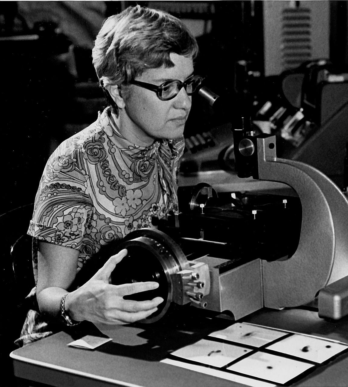 Dr Vera Rubin at work in the 1970s. The astrophysicist, who died on Christmas Day, was overlooked for a Nobel despite her groundbreaking work on dark matter. Had she won the prize, she would have been celebrated as an inspiration for aspiring scienti