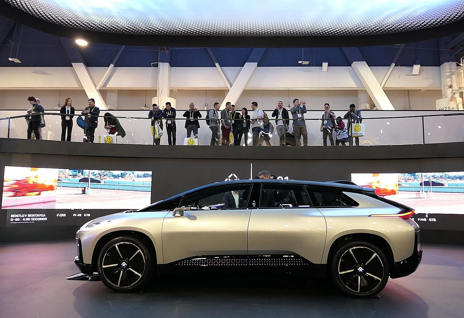 Faraday Future finally unveiled its first production vehicle, the FF91, at the show.