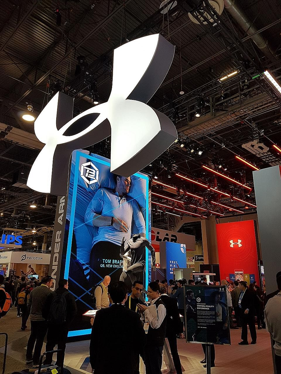 Sports-apparel giant Under Armour launched three smart shoes and unveiled recovery pyjamas at the show.