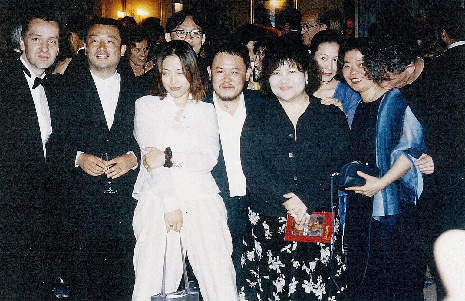 Mr Jeune (third from left) with Cannes' former artistic director Gilles Jacob (fourth from left) in the 1990s.