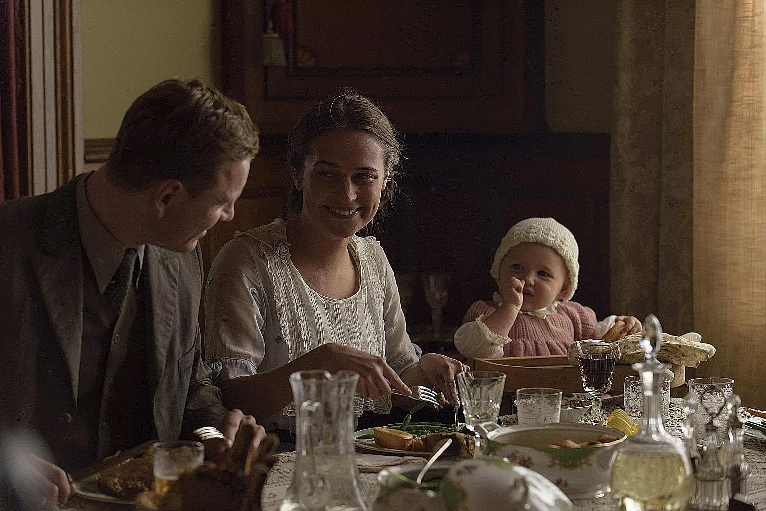 Michael Fassbender and Alicia Vikander (both above) in The Light Between Oceans; and Anya Taylor-Joy and James McAvoy in Split.