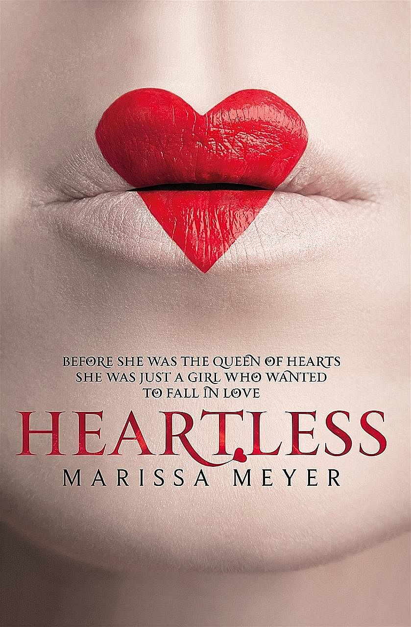 Marissa Meyer wants readers to sympathise with the Queen of Hearts in her new novel, Heartless (above), which tells the backstory of the Alice In Wonderland monarch.