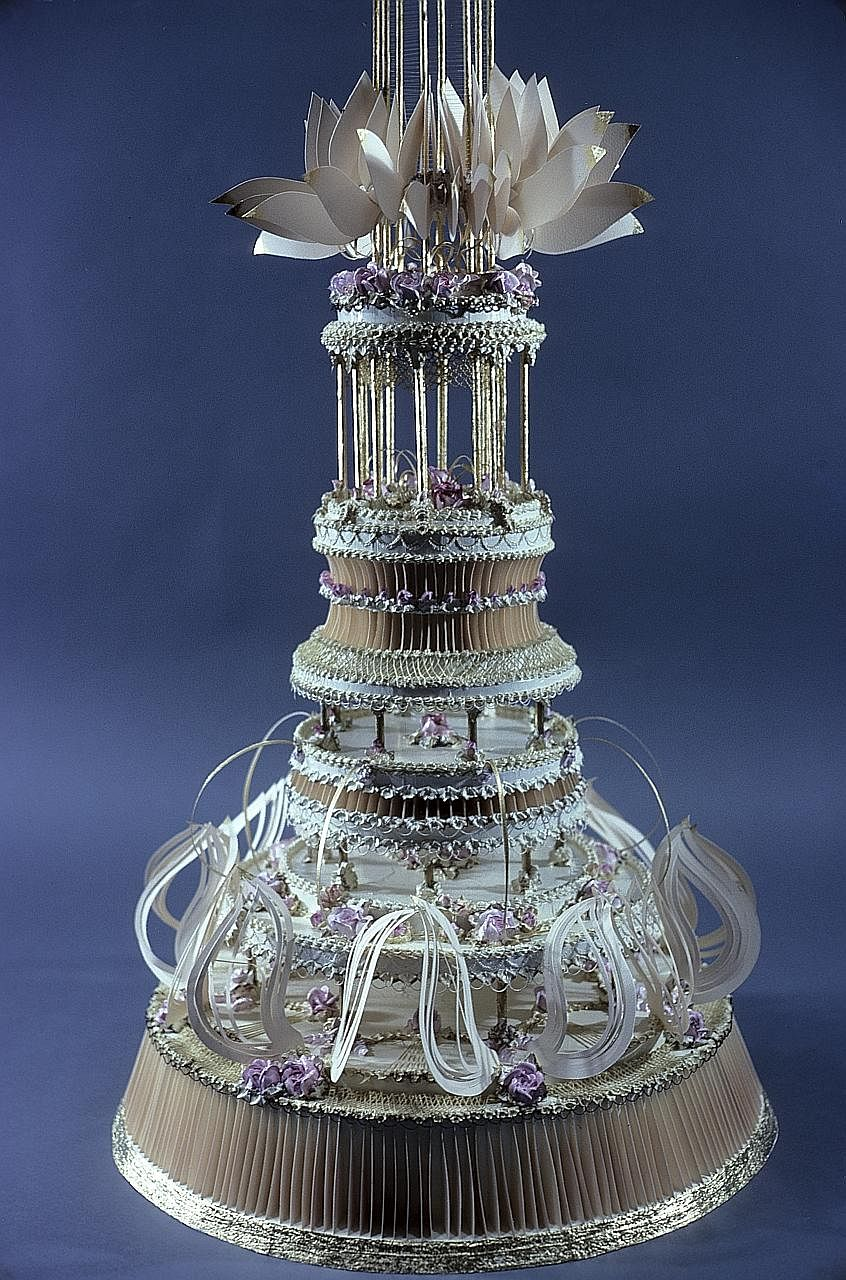 An undated photo of the 157cm-tall cake sculpture by Pat Lasch that had been commissioned by the Museum of Modern Art in 1979.