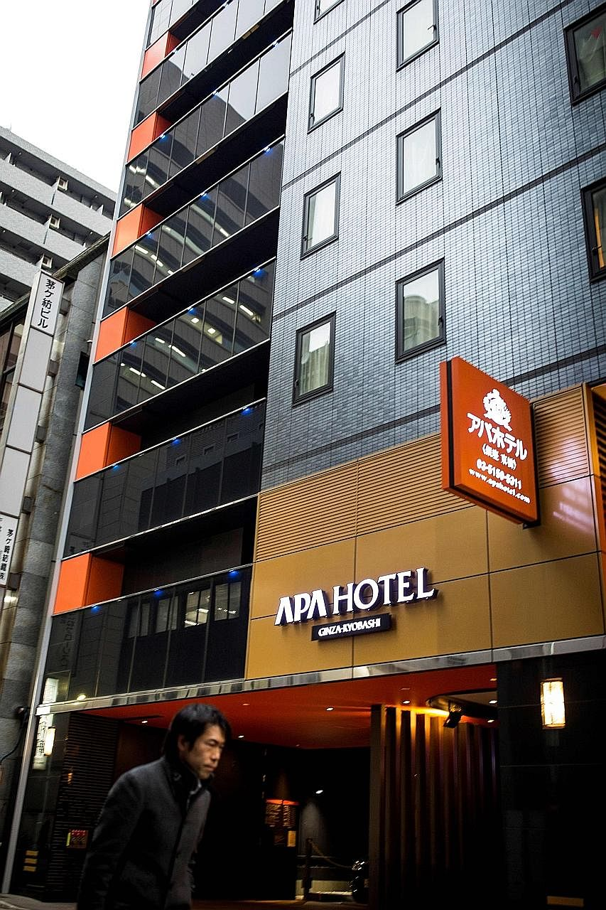 """The China National Tourism Administration has called on Chinese tourists to Japan to """"avoid spending money"""" at APA hotels."""