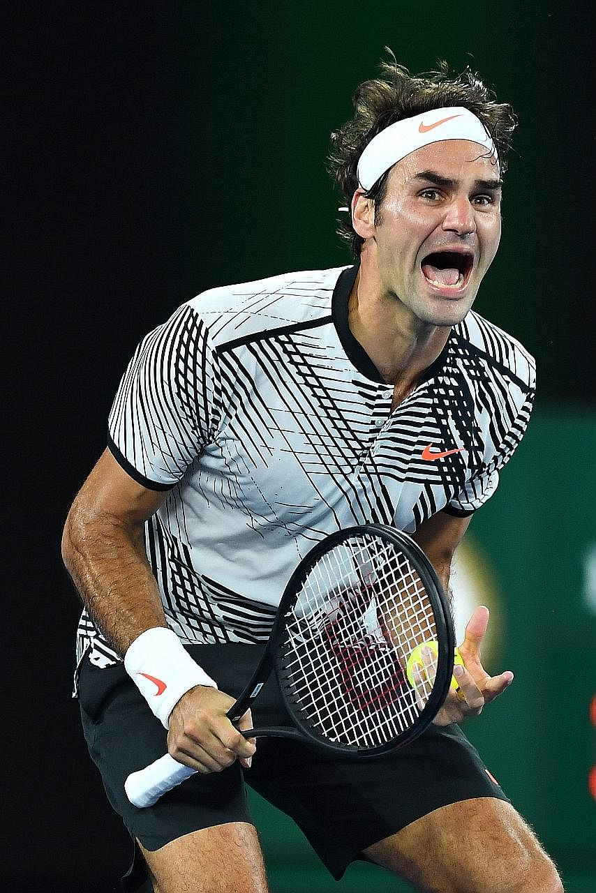 Having come back from 0-2 down in the fifth set, Roger Federer wins his 18th Grand Slam with a 6-4, 3-6, 6-1, 3-6, 6-3 victory against Rafael Nadal. It was Federer's fifth Australian Open title and his first Major since he won Wimbledon in 2012.
