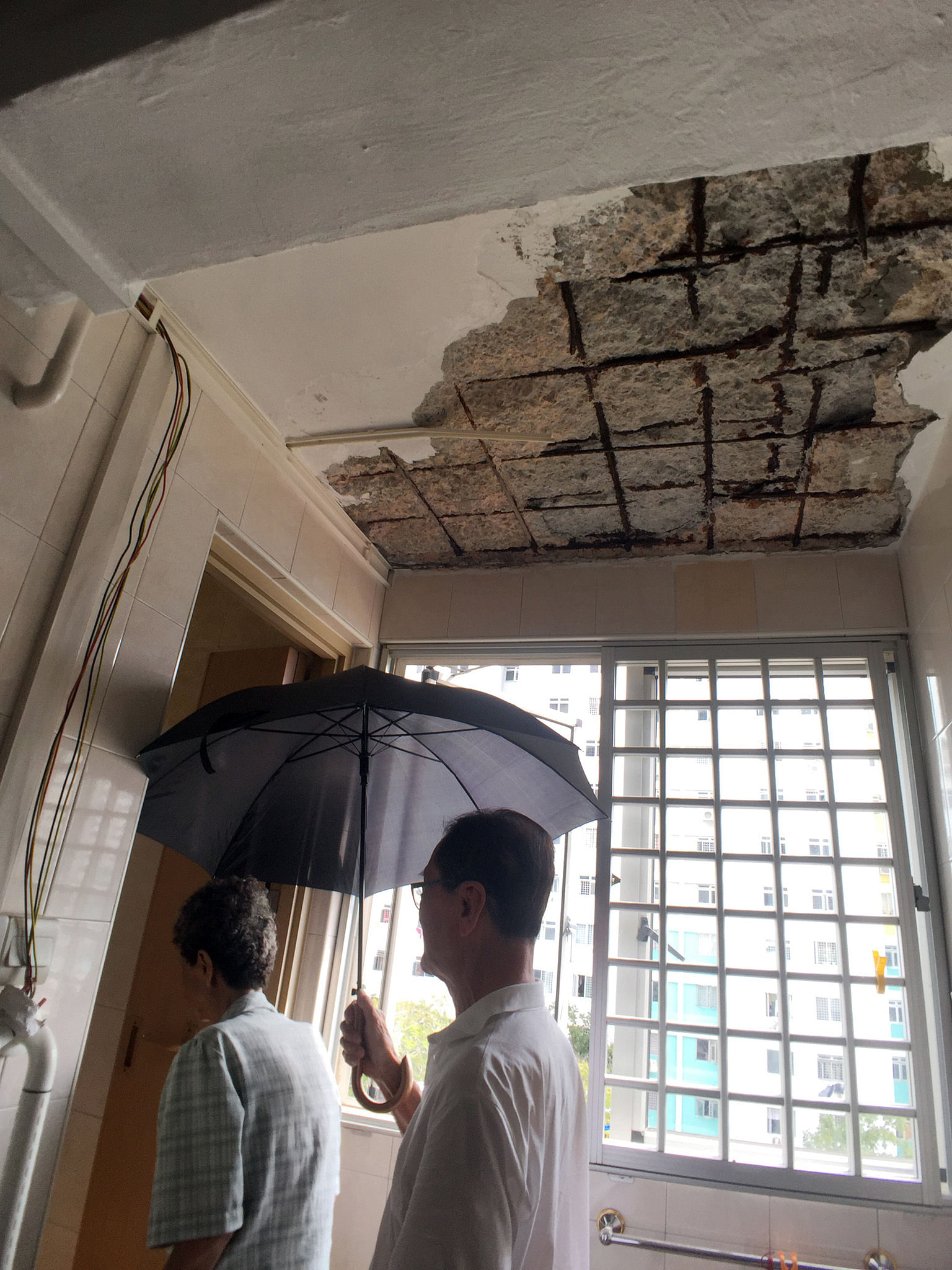Concrete Chunks Fall From Ceiling Of 43 Year Old Flat Housing