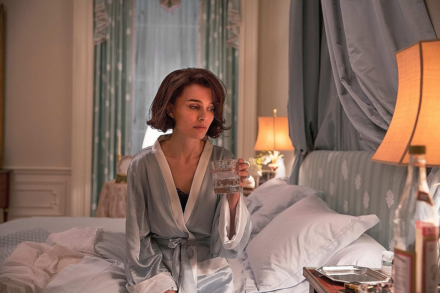 Natalie Portman is in the running for a Best Actress Oscar for her portrayal of Jackie Kennedy.