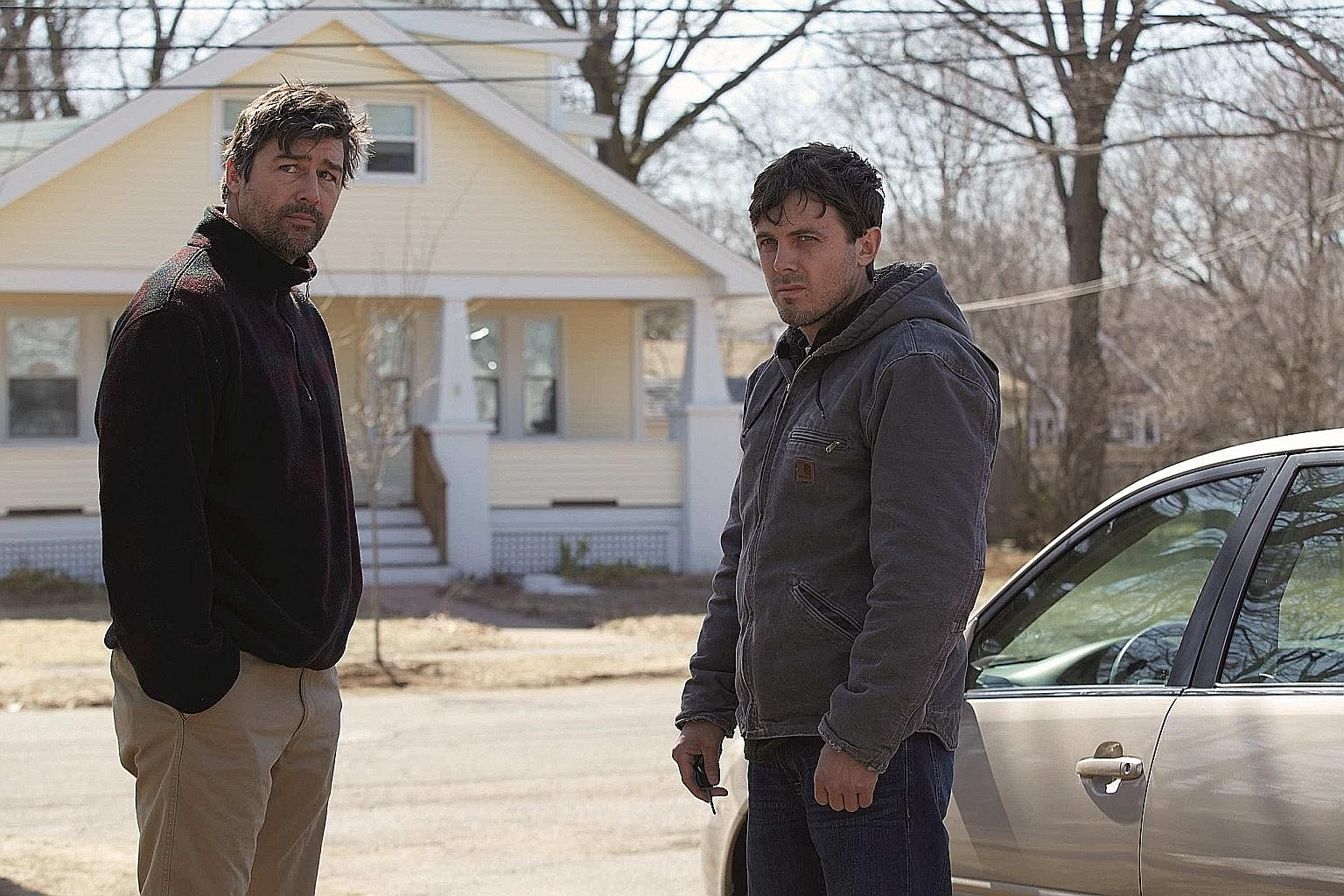 Manchester By The Sea stars Kyle Chandler (left) and Casey Affleck (right).