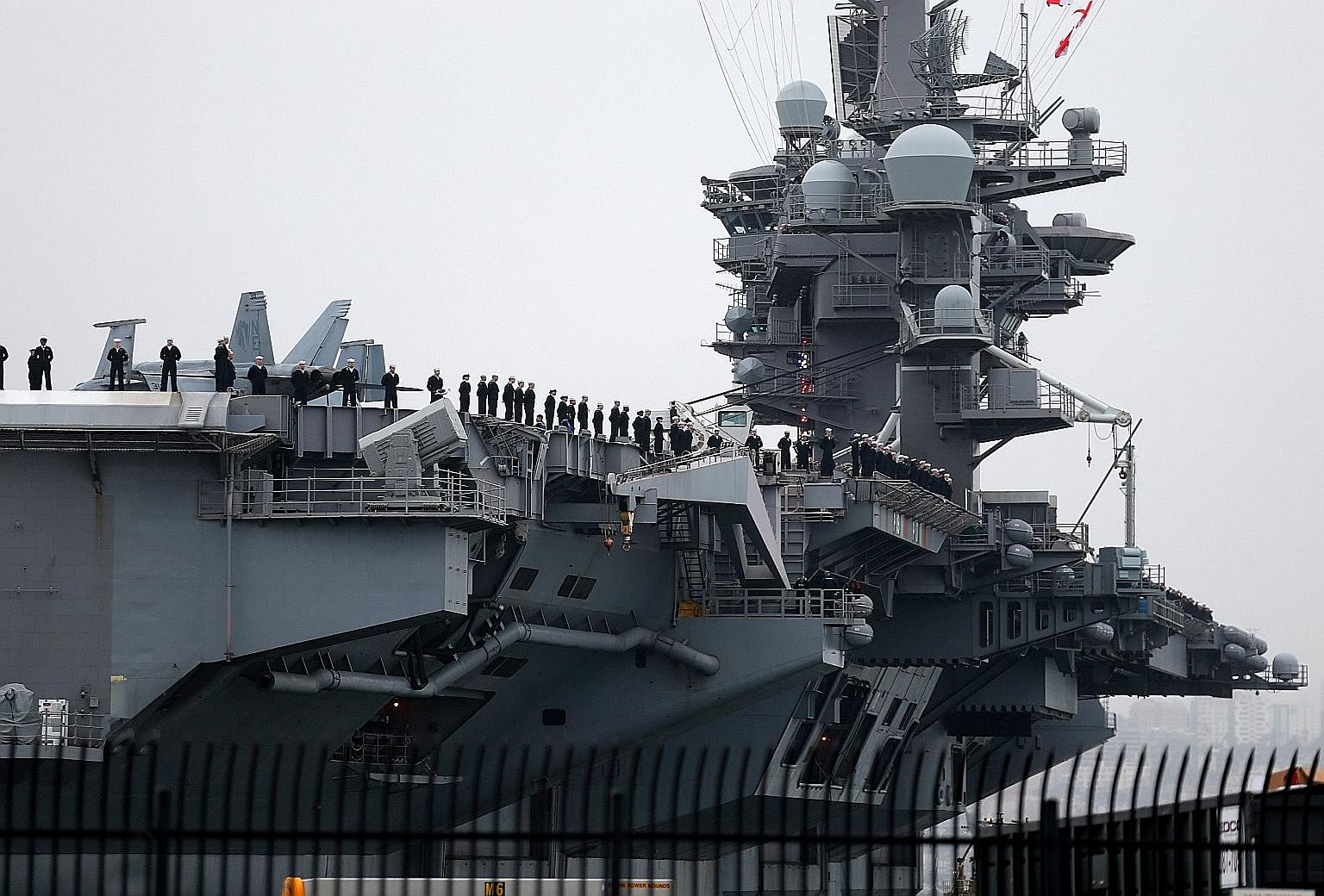 Aircraft carrier USS Carl Vinson is part of the patrols.