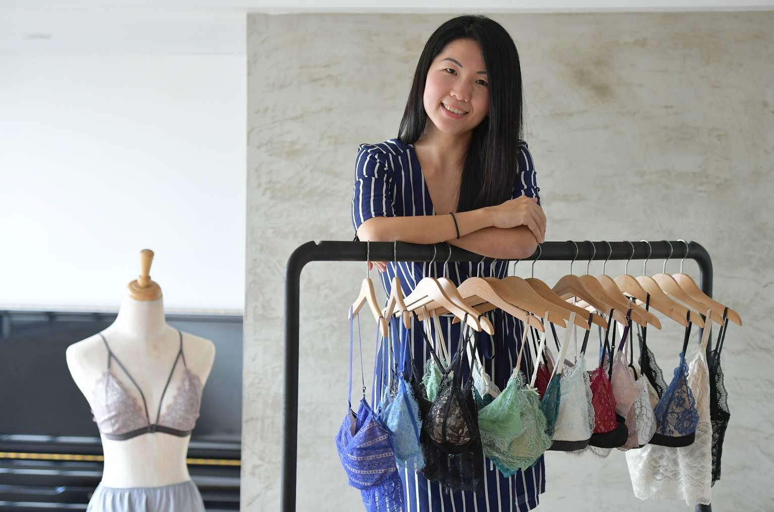 7f85ec2ff The lace bralettes of Ms Kate Low's Perk by Kate lingerie label are popular  with women looking for comfort and style. ST PHOTO: DESMOND FOO