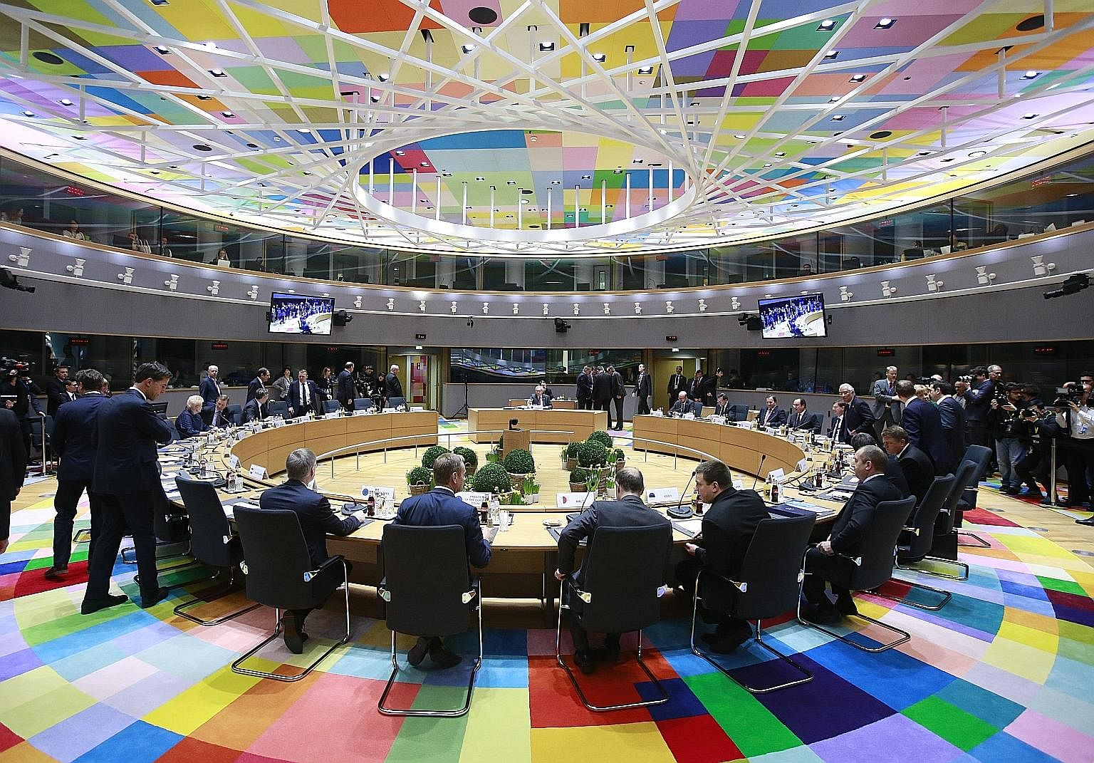 The European Union leaders' summit in Brussels on Friday. Inevitably, the EU would become a more German sort of organisation where a discussion precedes any decisionbut there is no coddling of those who don't go along with the majority, says the wr