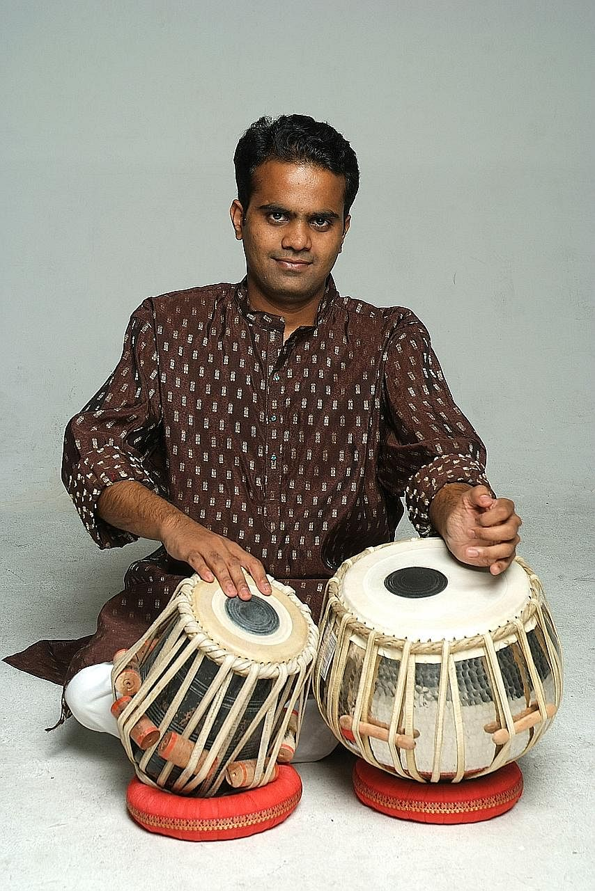 Tabla soloist Nawaz Mirajkar will present an extravaganza of Indian, Chinese and Western instruments on Sunday in a performance inspired by water.