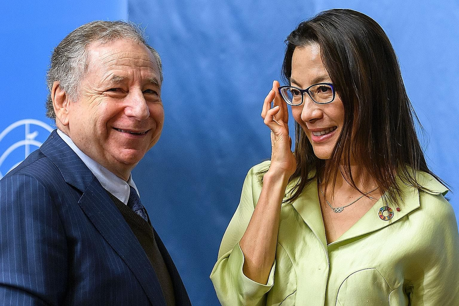 FIA president Jean Todt with his actress wife Michelle Yeoh at the Global Road Safety Film Festival last month. Todt believes F1 is lagging behind in providing entertainment for the common public.