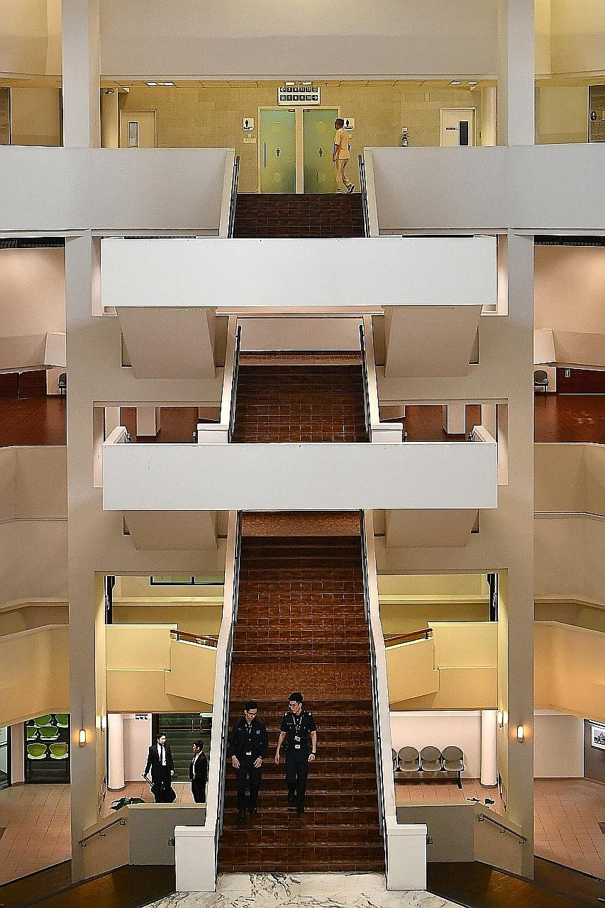The floating staircase (above).