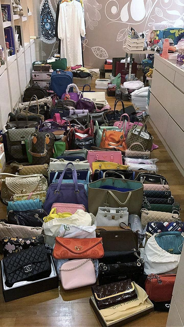 Luxury bags seized at the home of a Johor politician with a Datuk title, after he was detained by the anti-graft agency last month to assist in a corruption probe.