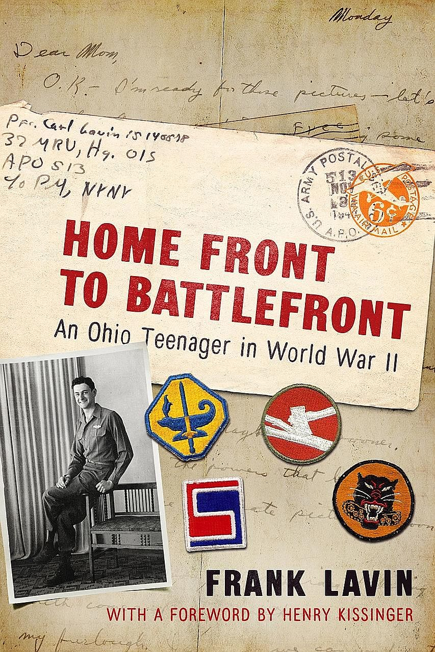 Former US ambassador to Singapore Frank Lavin cobbled together material from more than 200 letters his father wrote home to his family, as well as research from official military records and historical archives, to pen Home Front To Battlefront (abov