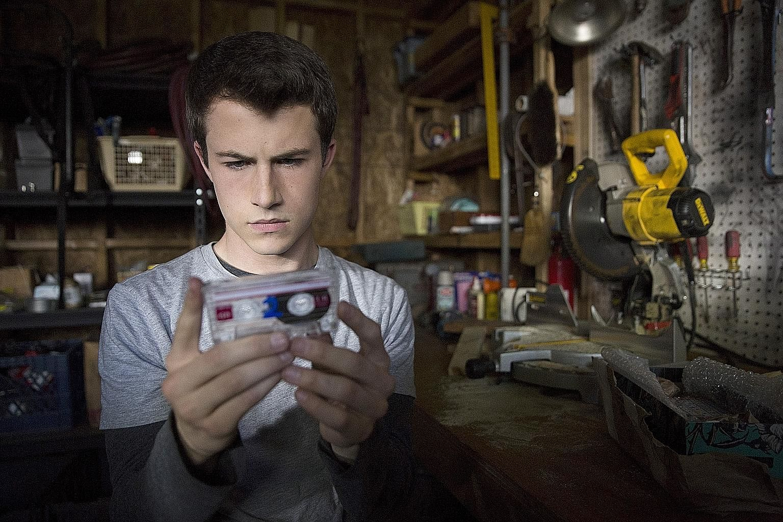 (Above) Dylan Minnette plays Clay Jensen in 13 Reasons Why.