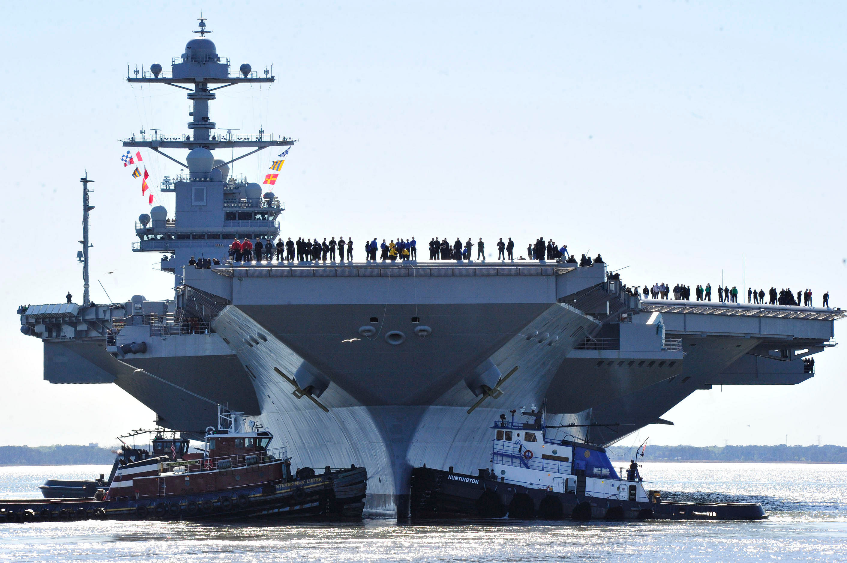 navy rolls out new aircraft carrier uss gerald r ford for sea trials. Cars Review. Best American Auto & Cars Review
