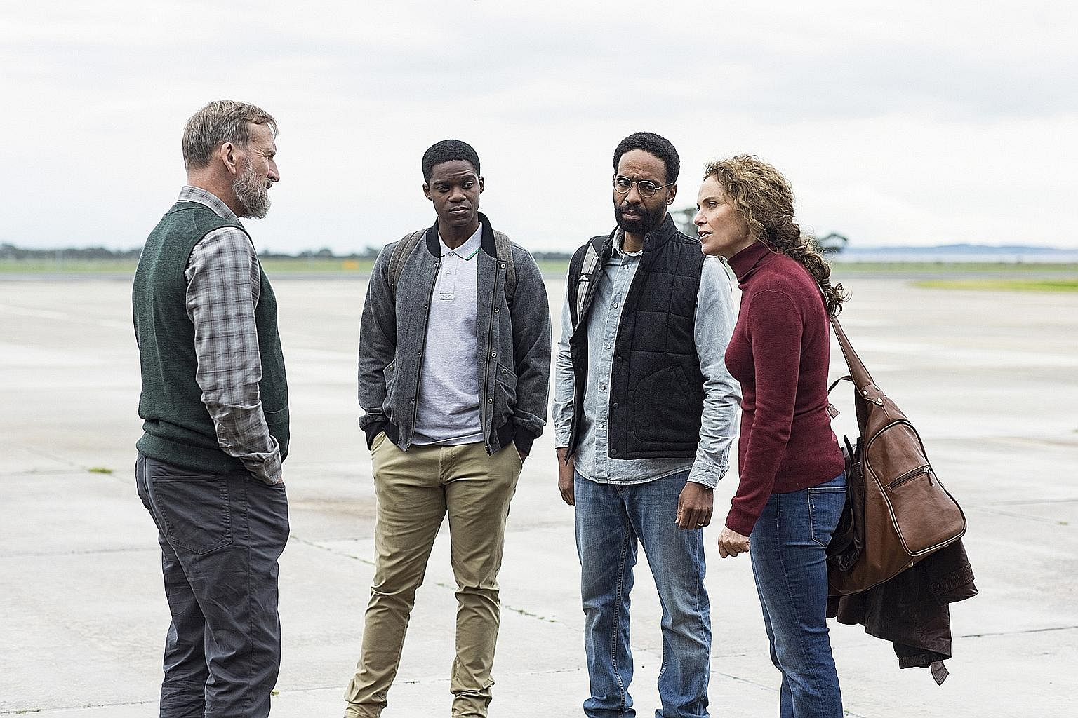 Christopher Eccleston, Jovan Adepo, Kevin Carroll and Amy Brenneman star in The Leftovers.