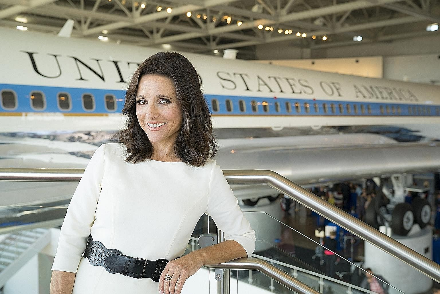 US Vice- President Selina Meyer (played by Julia Louis- Dreyfus, above) continues in her misadventures on Veep.