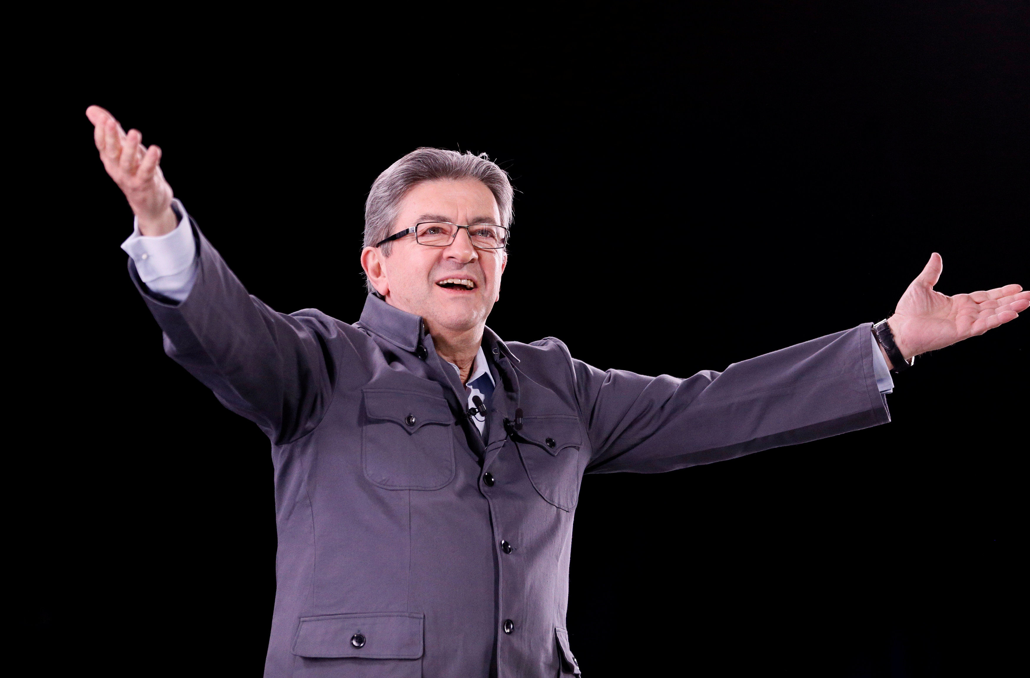 contract will jean melenchon finish first round french presidential election