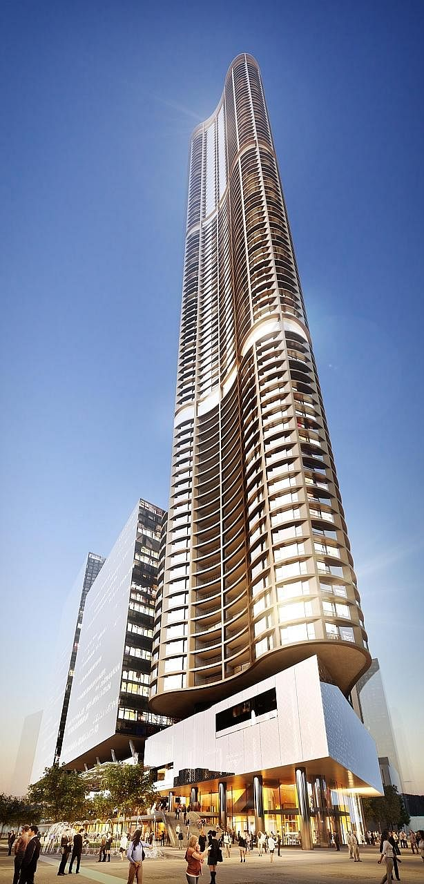 A proposed 70-odd storey residential tower in Parramatta suburb is poised to be one of the tallest apartment buildings in Sydney. Mrs Bayarmaa Sambuu, (left, with her husband Bayarbyamba Sambuu), does not have problems with her neighbours. (Above) Ne