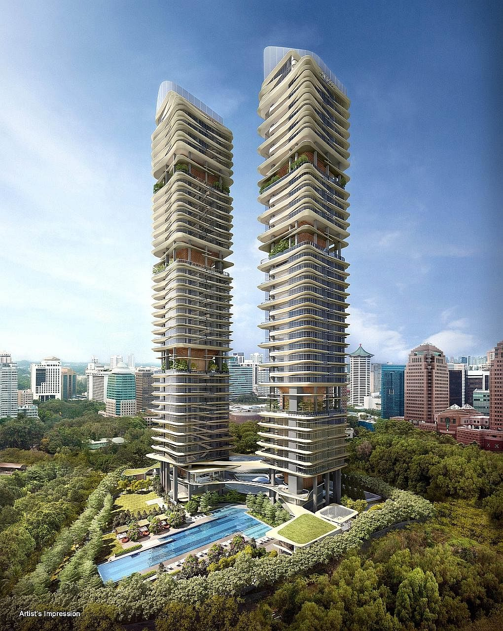 Condominiums Martin Modern (left) and New Futura are slated to hit the market in the second half of the year.