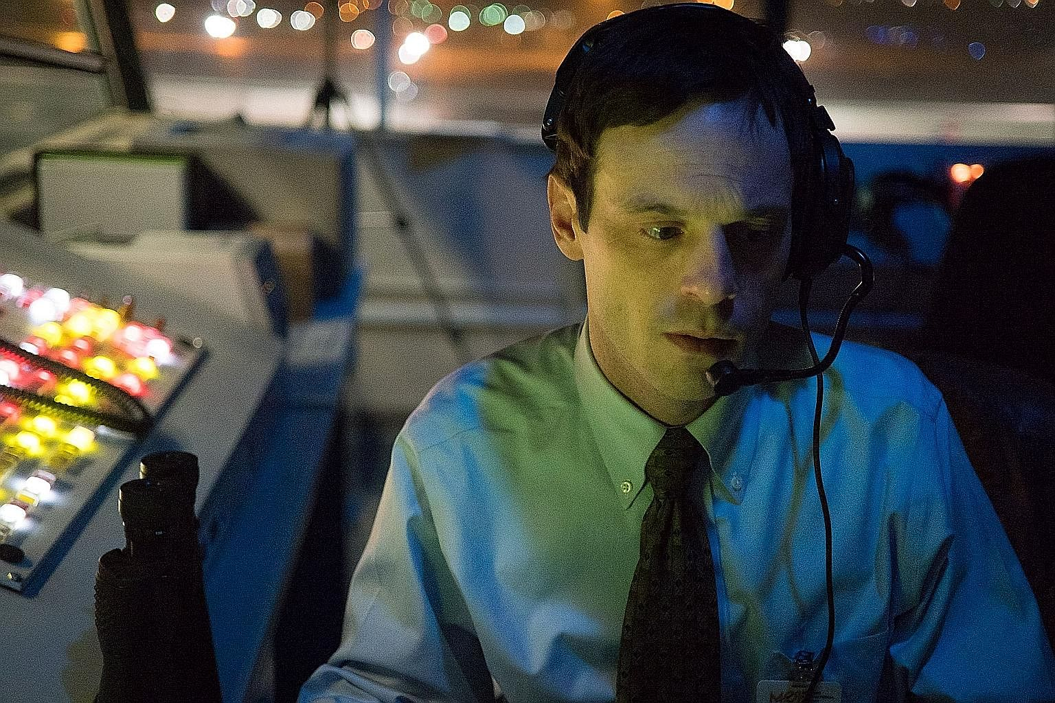 Jharrel Jerome and Ashton Sanders star in Moonlight, while Scoot McNairy (above) plays an air traffic controller under investigation for a collision in Aftermath.