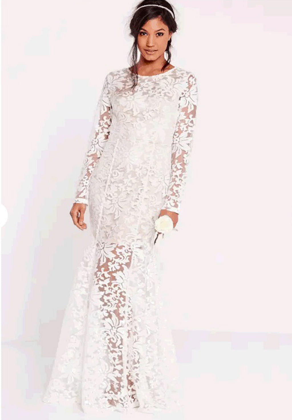 9813a4a229ef Bridal creations from Dorothy Perkins ($268), Topshop (from $152) and  Missguided ($274, above).