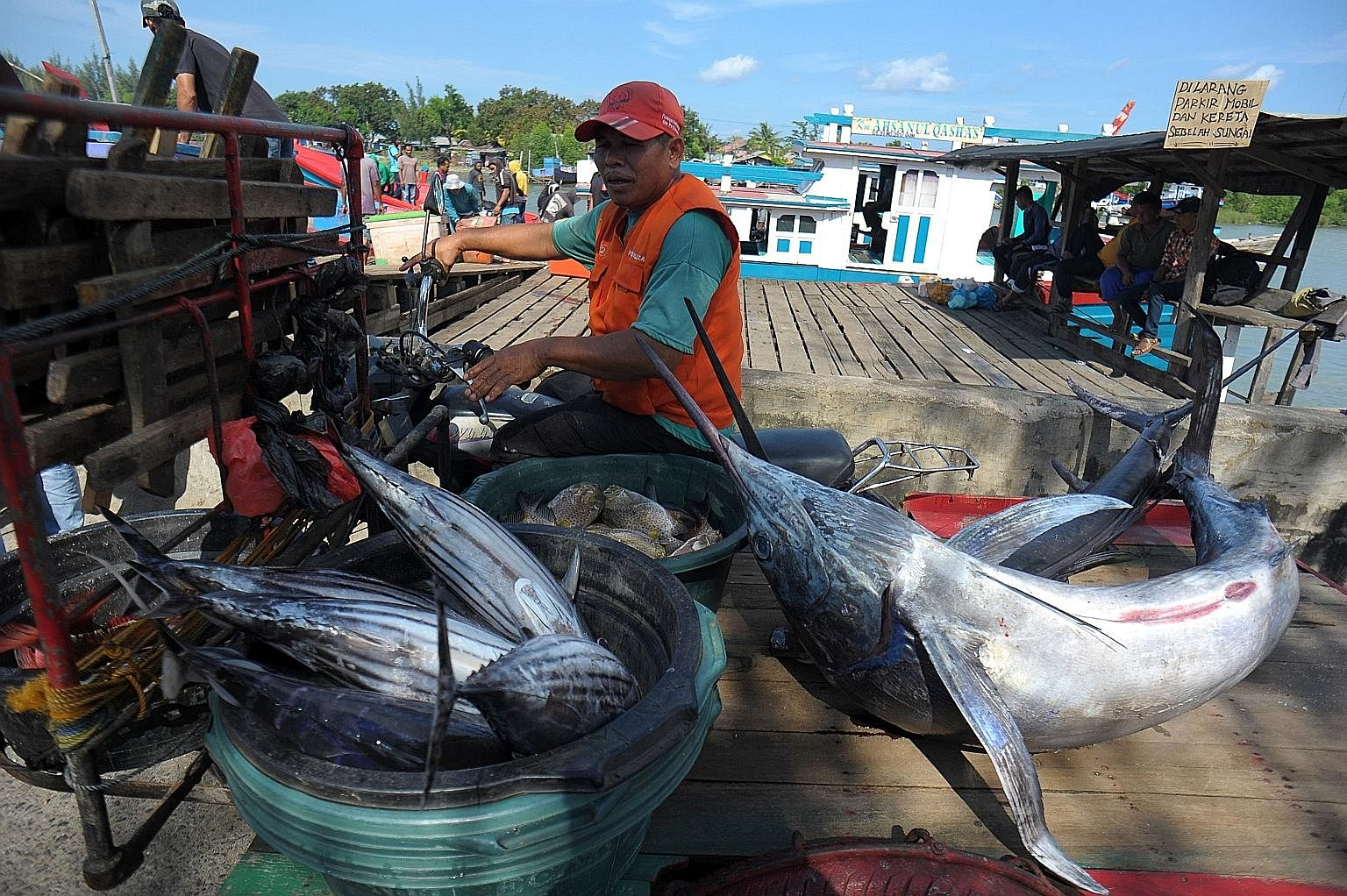 Freshly caught fish at a traditional port in Banda Aceh, Indonesia. If RCEP is finalised, it will be the world's largest trading bloc with 32 per cent of the world's GDP, a market of 3.4 billion people or nearly half the world's population, including