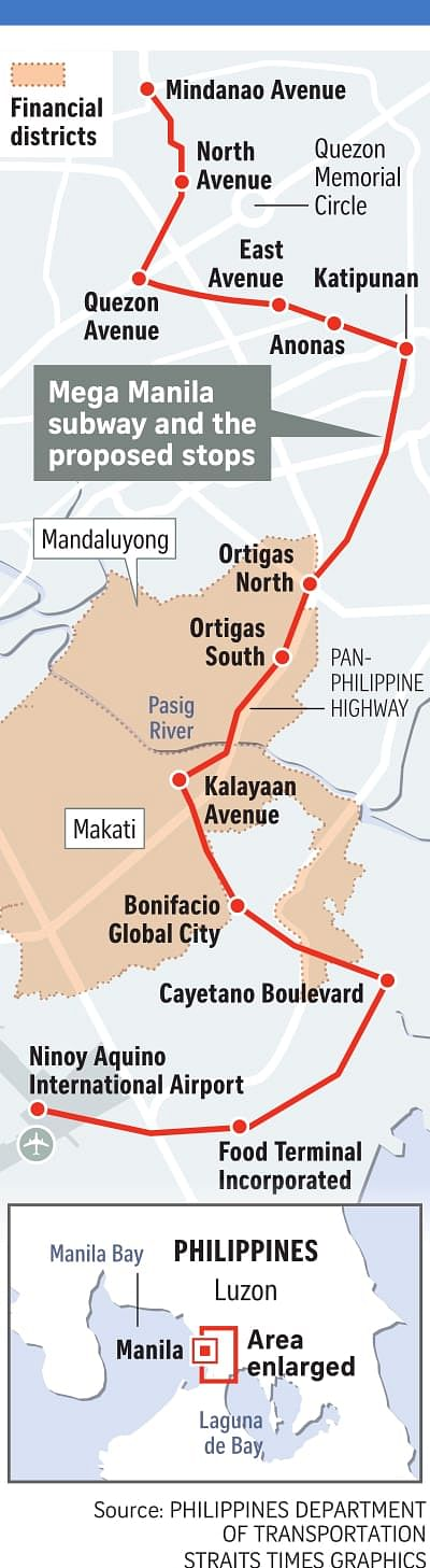 Mega Manila Subway Map.Philippines Set To Have First Subway System Se Asia News Top