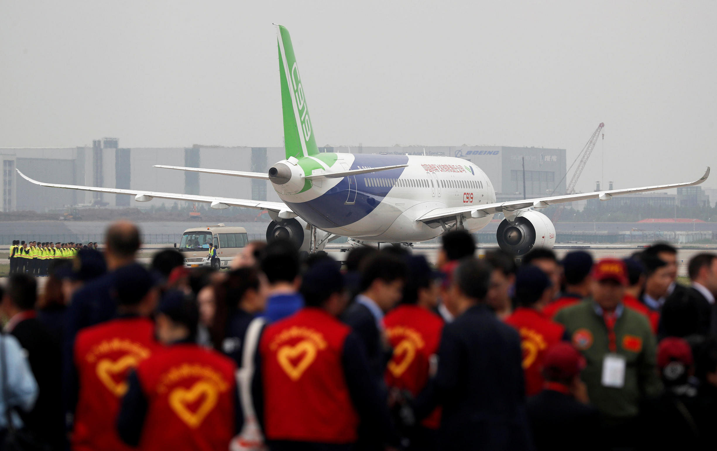 China's home-grown C919 passenger jet takes off on maiden ...