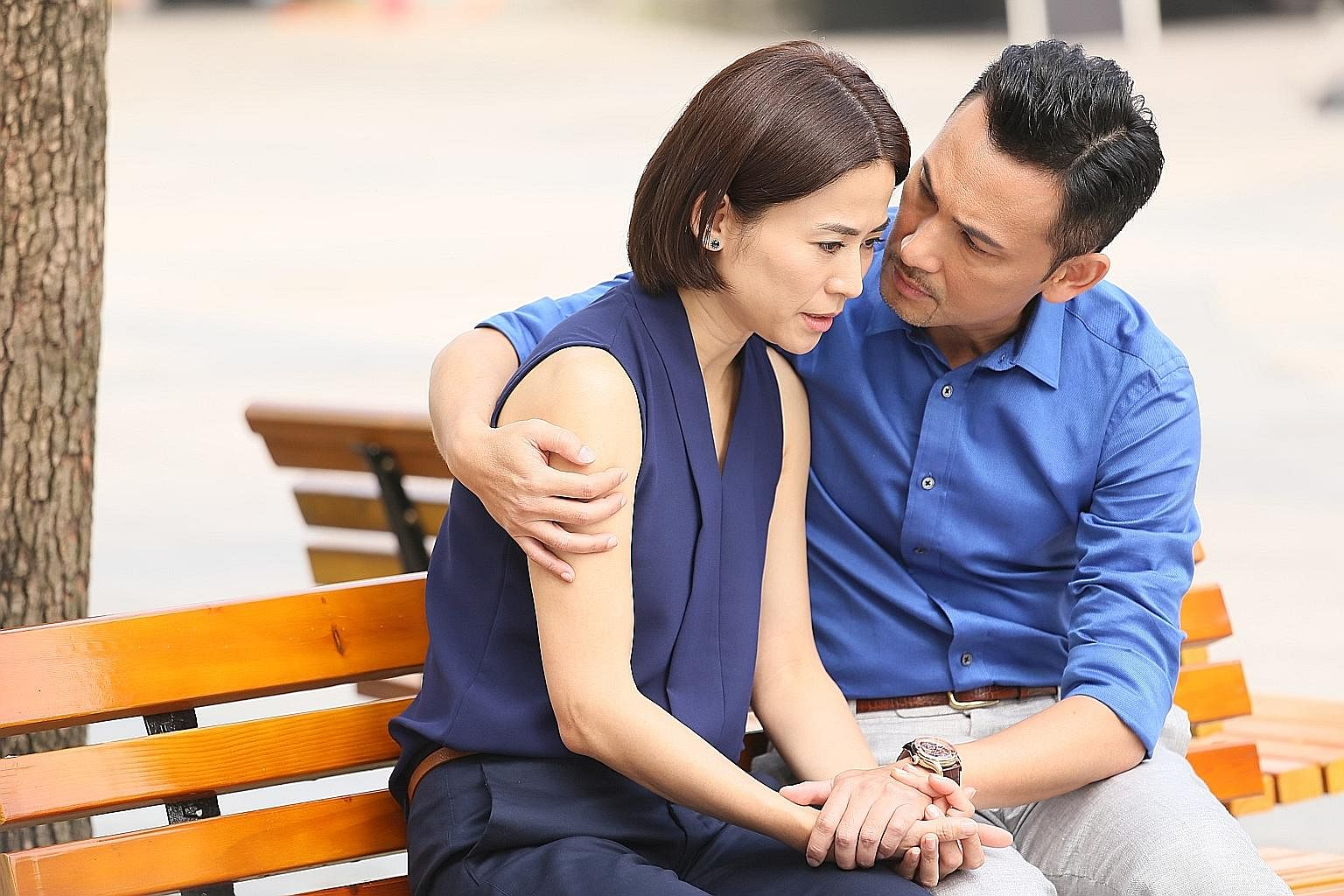 Jessica Hsuan and Frankie Lam are a will-they-won't-they former couple in My Unfair Lady.